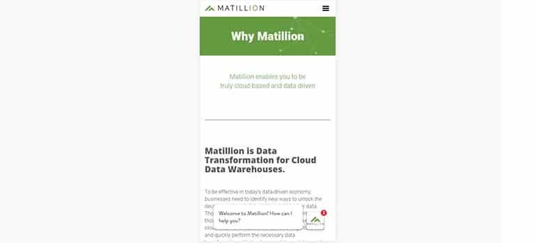 Matillion - Mobile 1