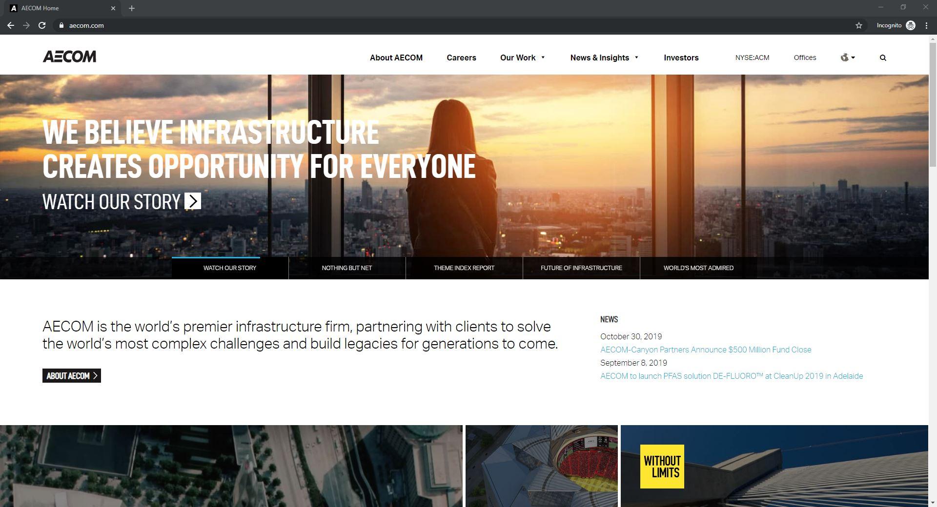 Best 6 ENR Website Designs Established As Thought Leaders-AECOM
