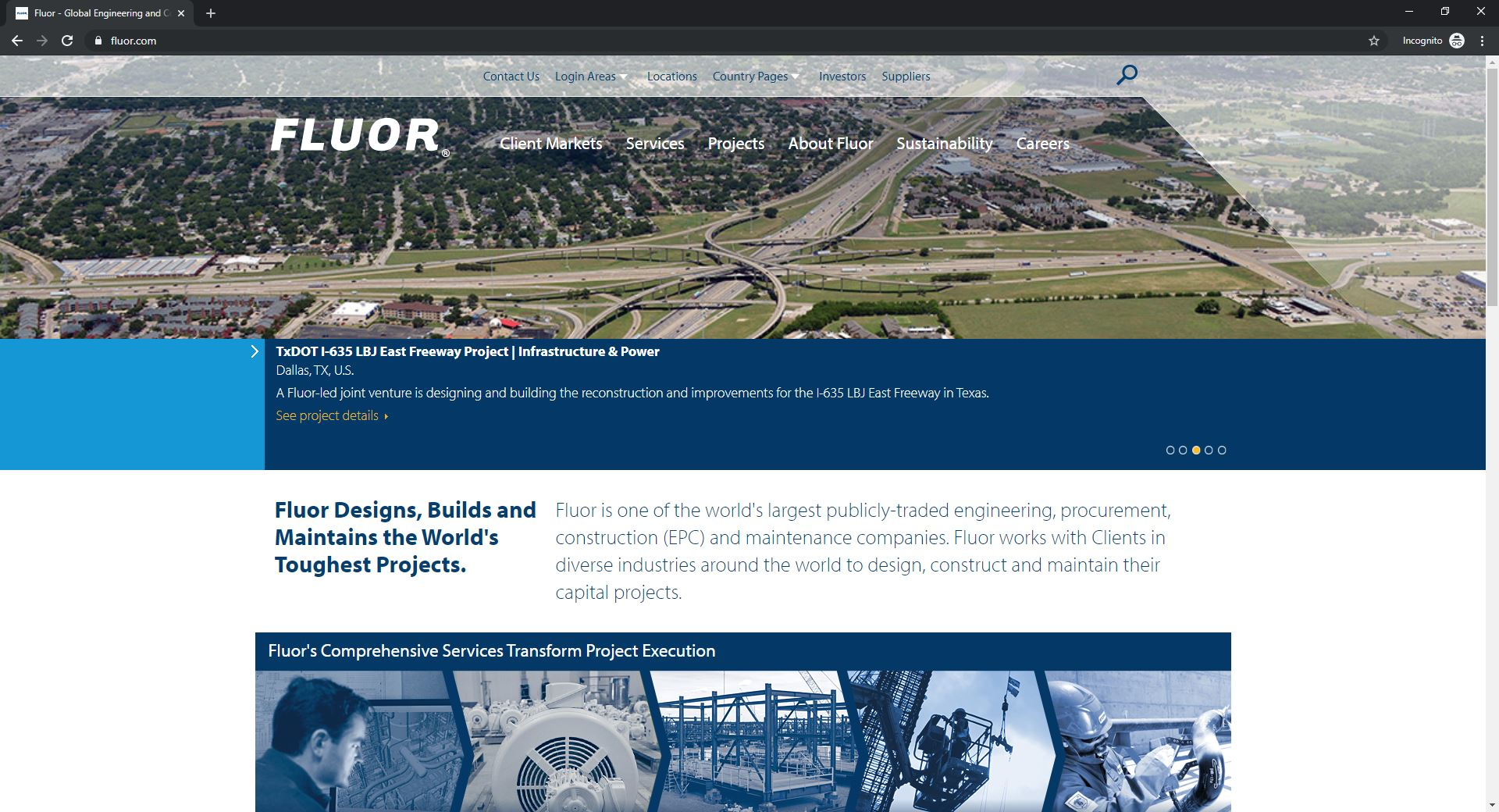 Best 6 ENR Website Designs Established As Thought Leaders-Fluor