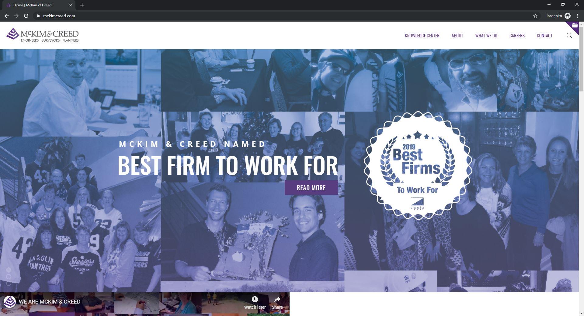 Best 6 ENR Website Designs Established As Thought Leaders-McKim&creed