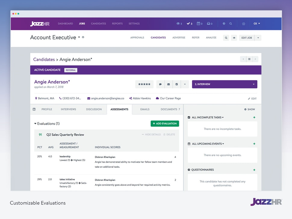10 Best Recruiting Software For Small Businesses & Startups Companies-JazzHR-Fig 2