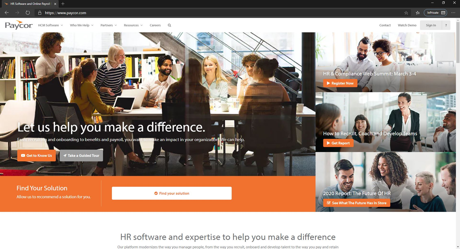 10 Best Recruiting Software For Small Businesses & Startups Companies-Paycor-Fig 1