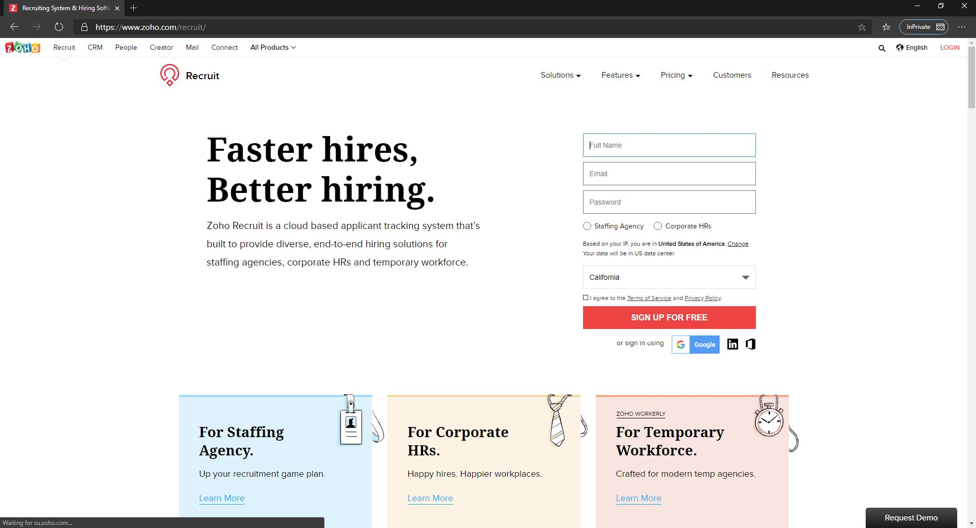 10 Best Recruiting Software For Small Businesses & Startups Companies-Zoho Recruit-Fig 1