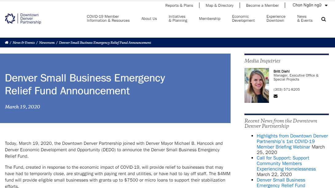 Coronavirus Pandemic and Recovery Resources for Small Businesses