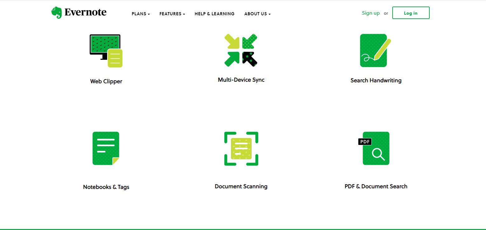 Homepage Design 101-Evernote