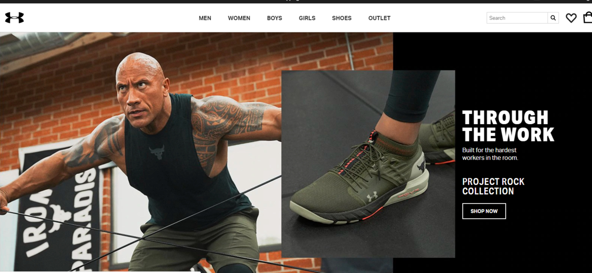 Homepage Design 101-Under Armour