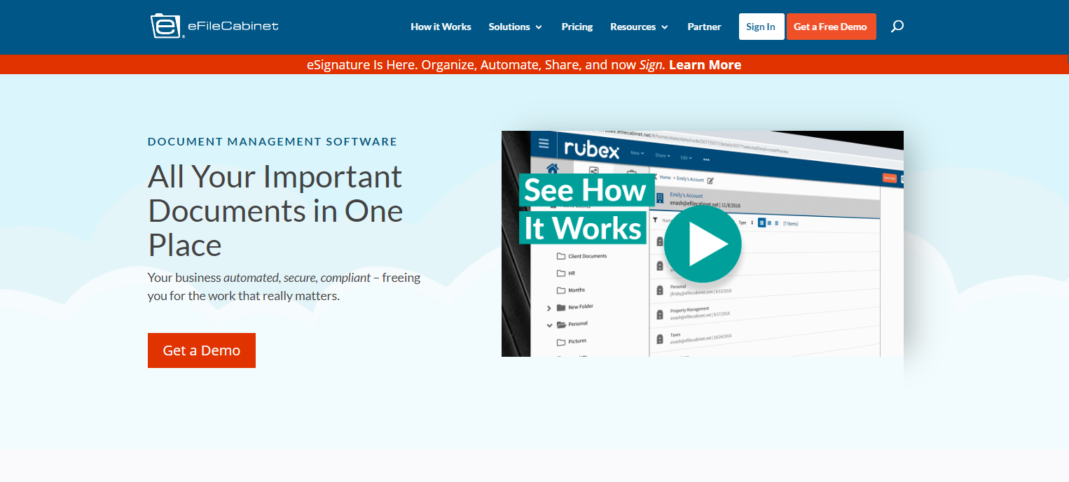 Homepage Design 101-eFile Cabinet