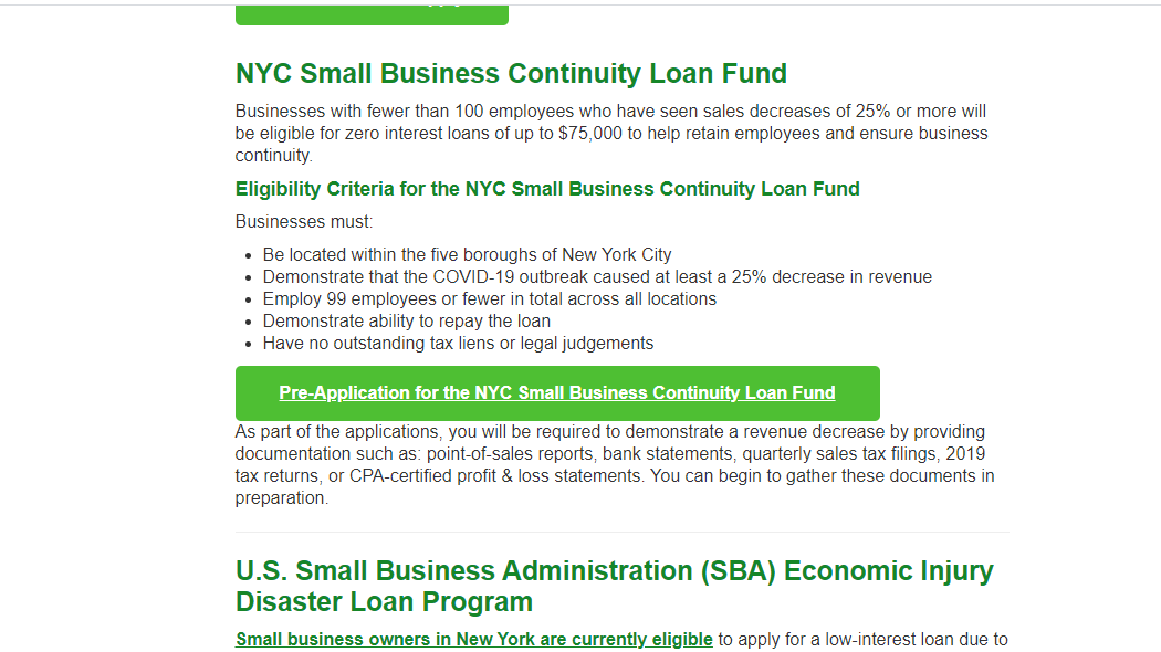 NYC Small Business Loan