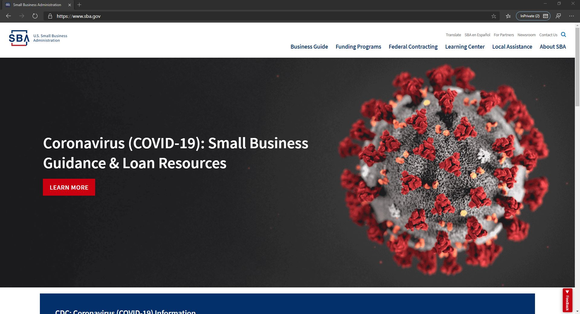 SBA-Homepage