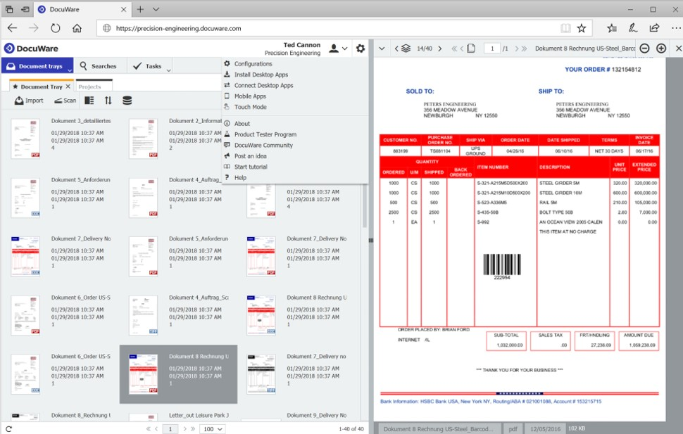 The 8 Document Management Software For Better Workflow-Docuware Interface