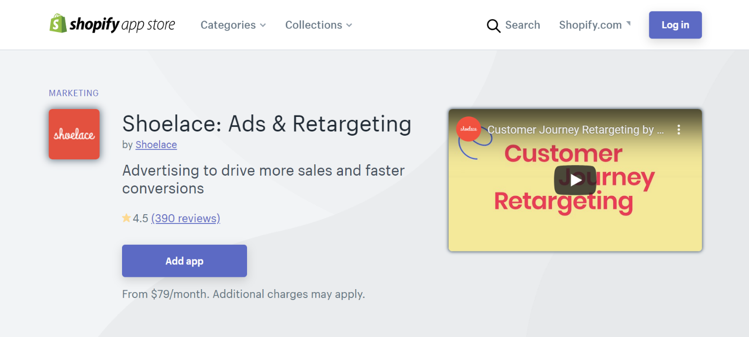Shoelace Ads and Retargeting