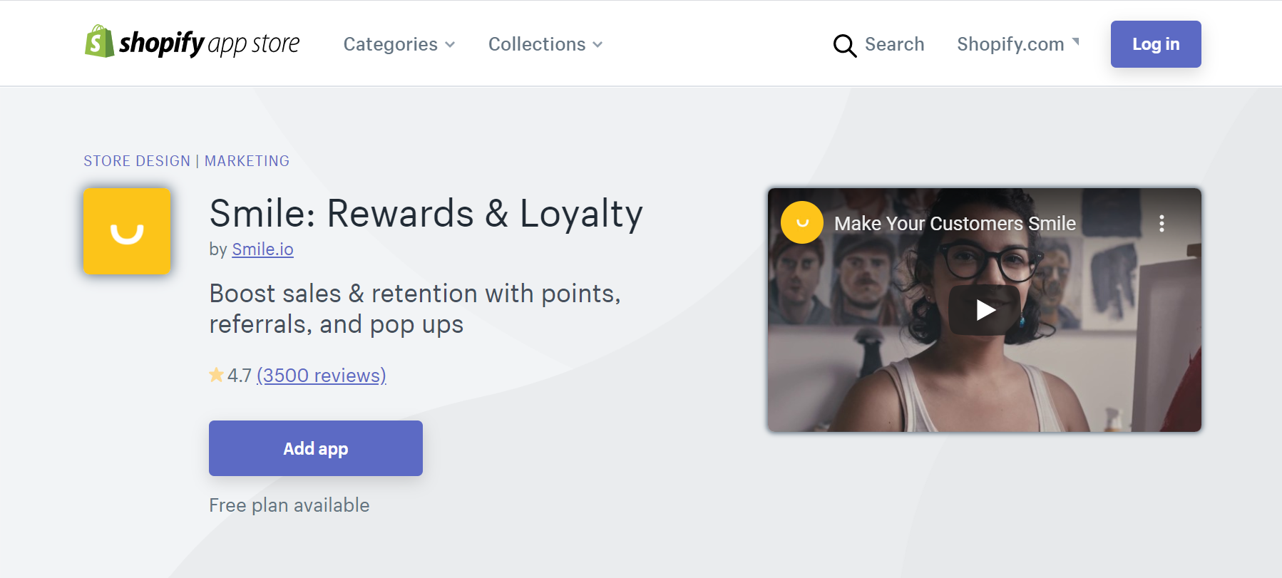 Smile Rewards and Loyalty app