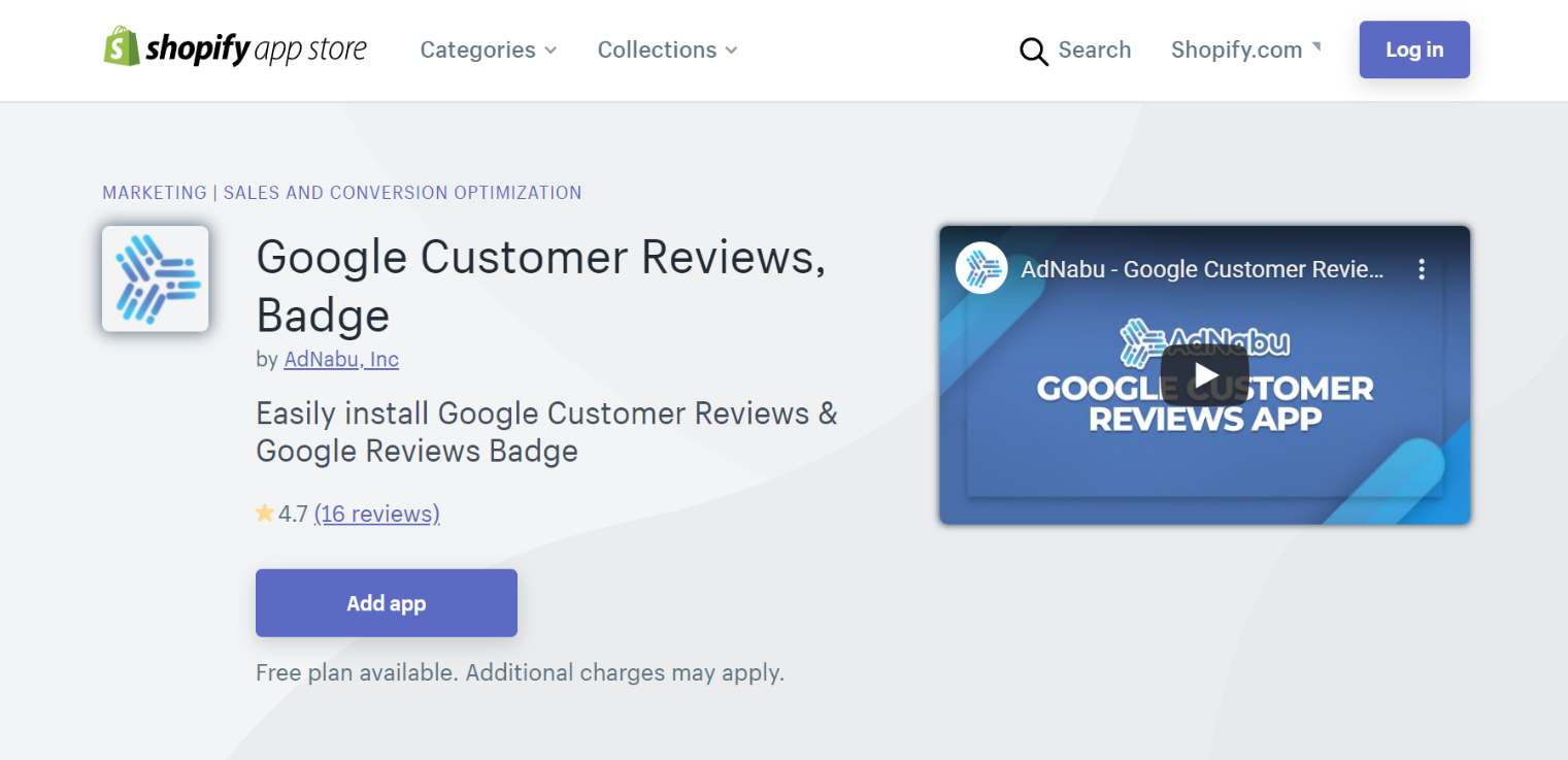 Google Customer Reviews Badge