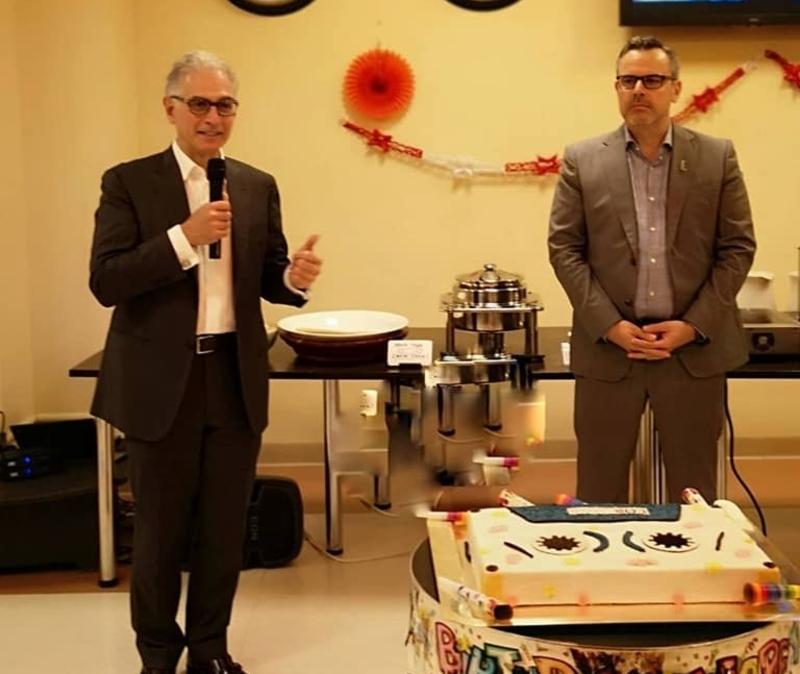 Hyatt CEO share stories with staff