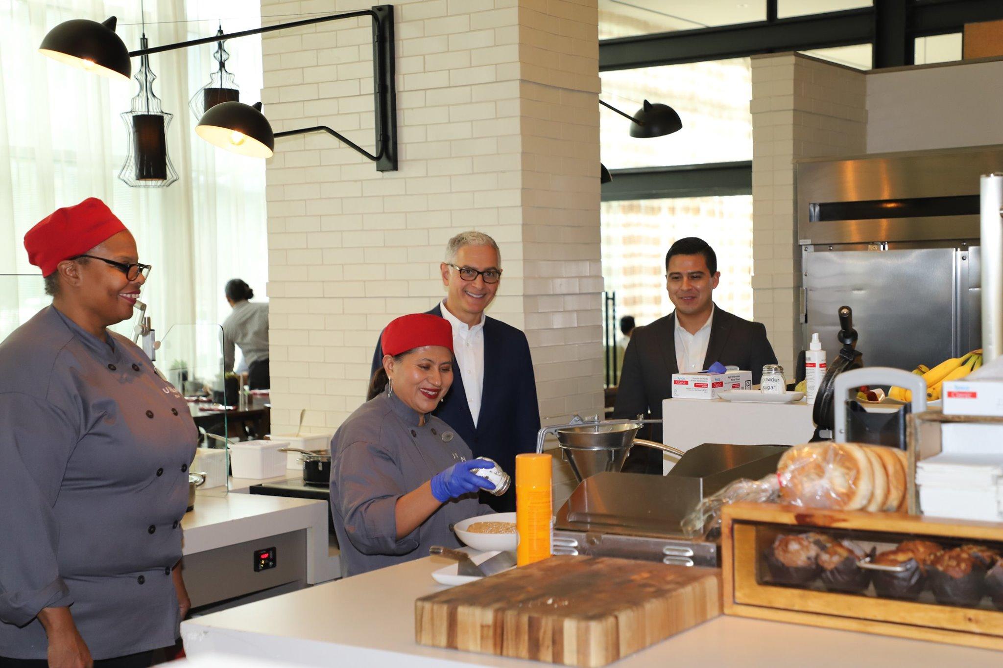 Hyatt CEO in the kitchen
