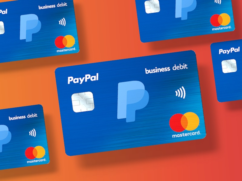 Business debit card from Paypal