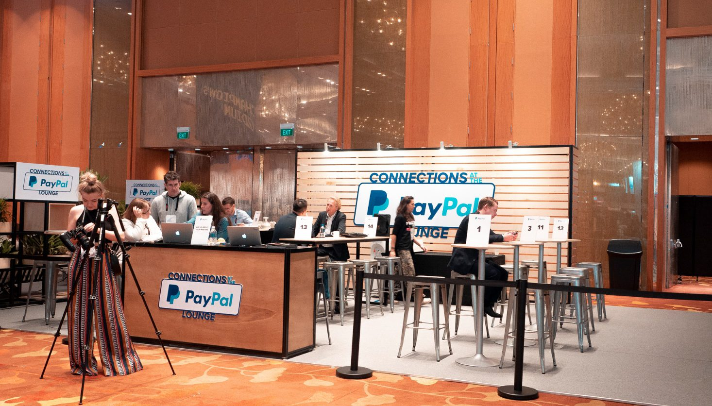 Paypal booth at a conference