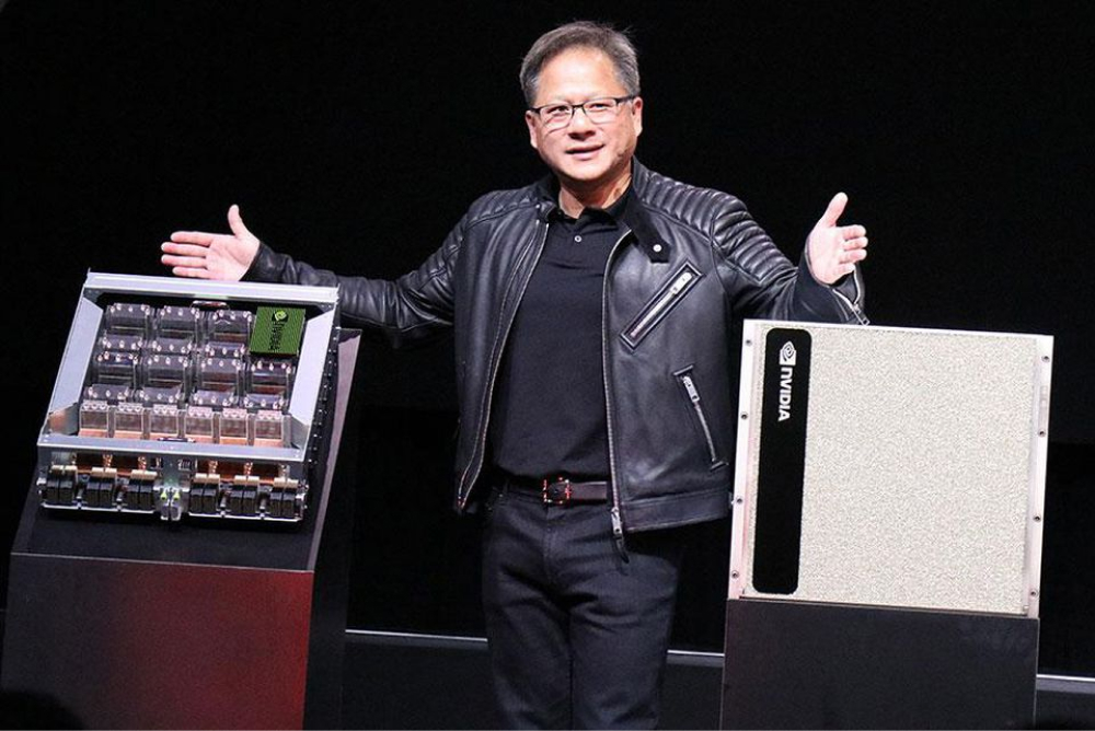 NVIDIA CEO pitch on stage about new product