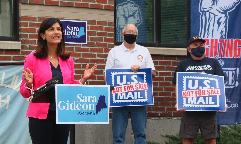Sara Gideon on USPS talk