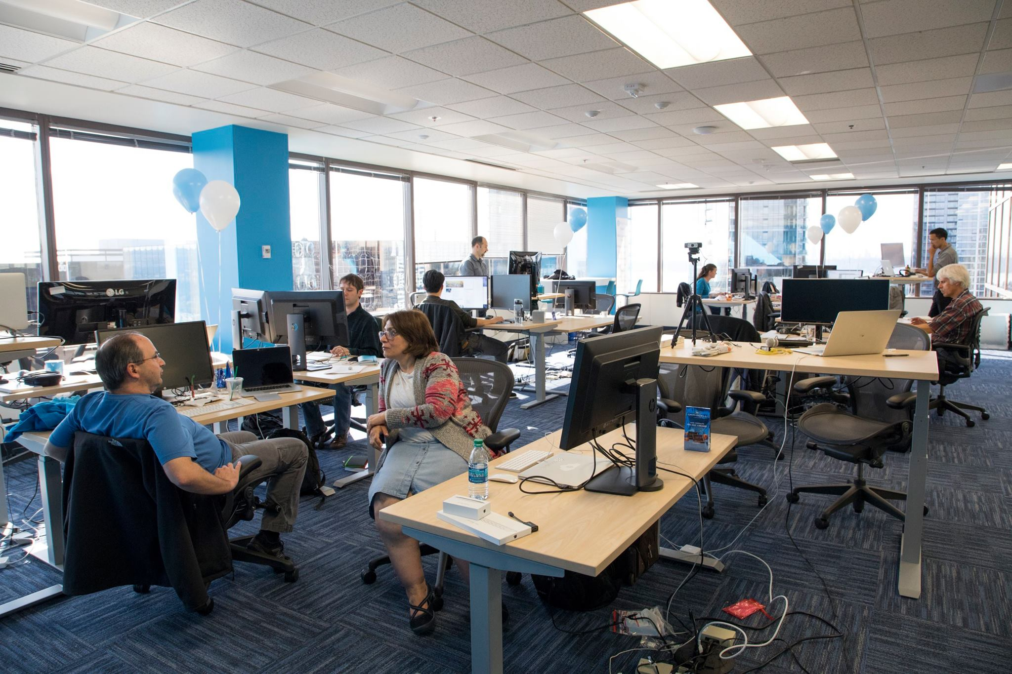 Snowflake staff work in main office