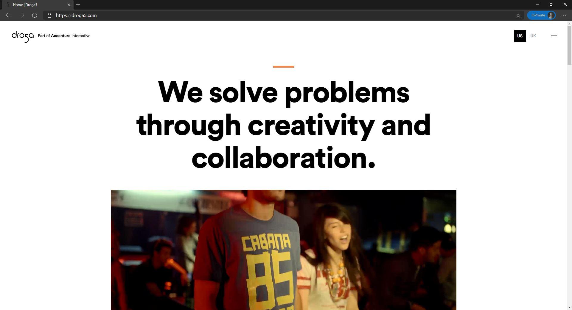 Droga5 website