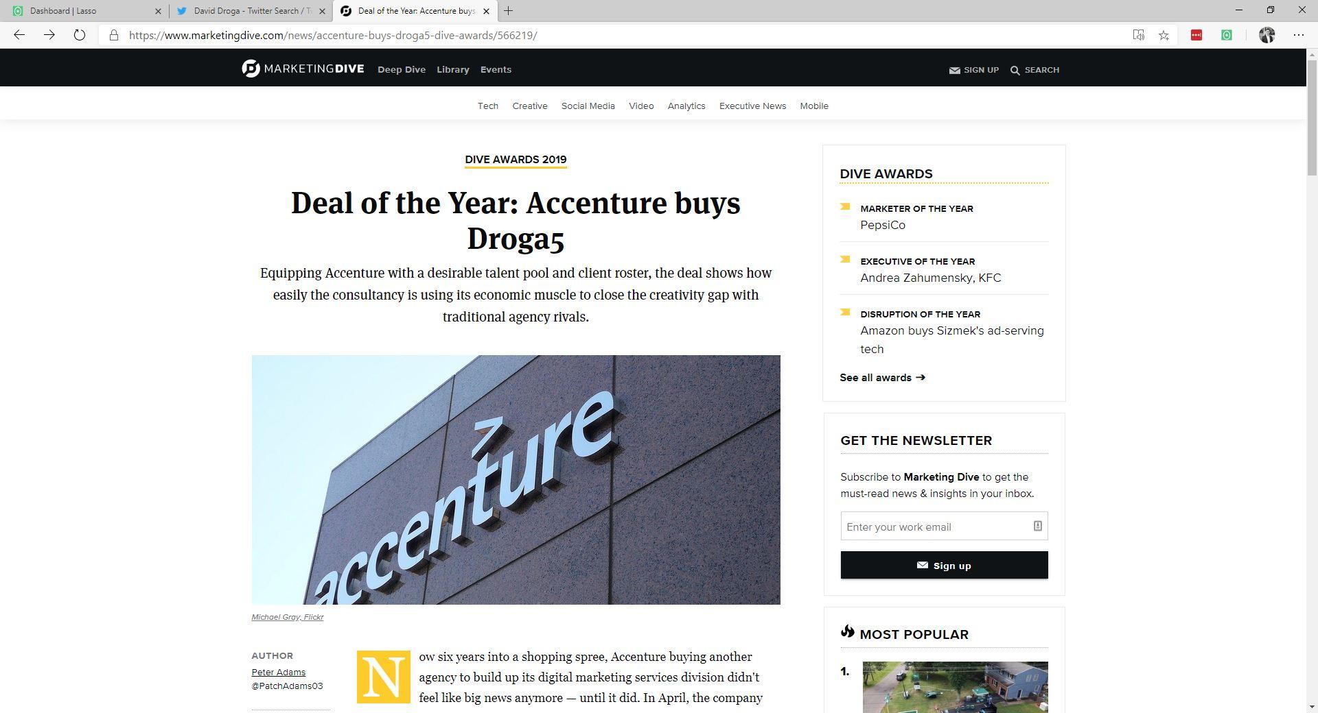 Accentrure acquire Droga5