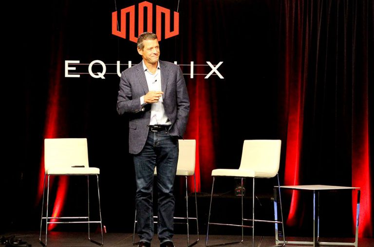 Equinix CEO Charles Meyers at a talk event