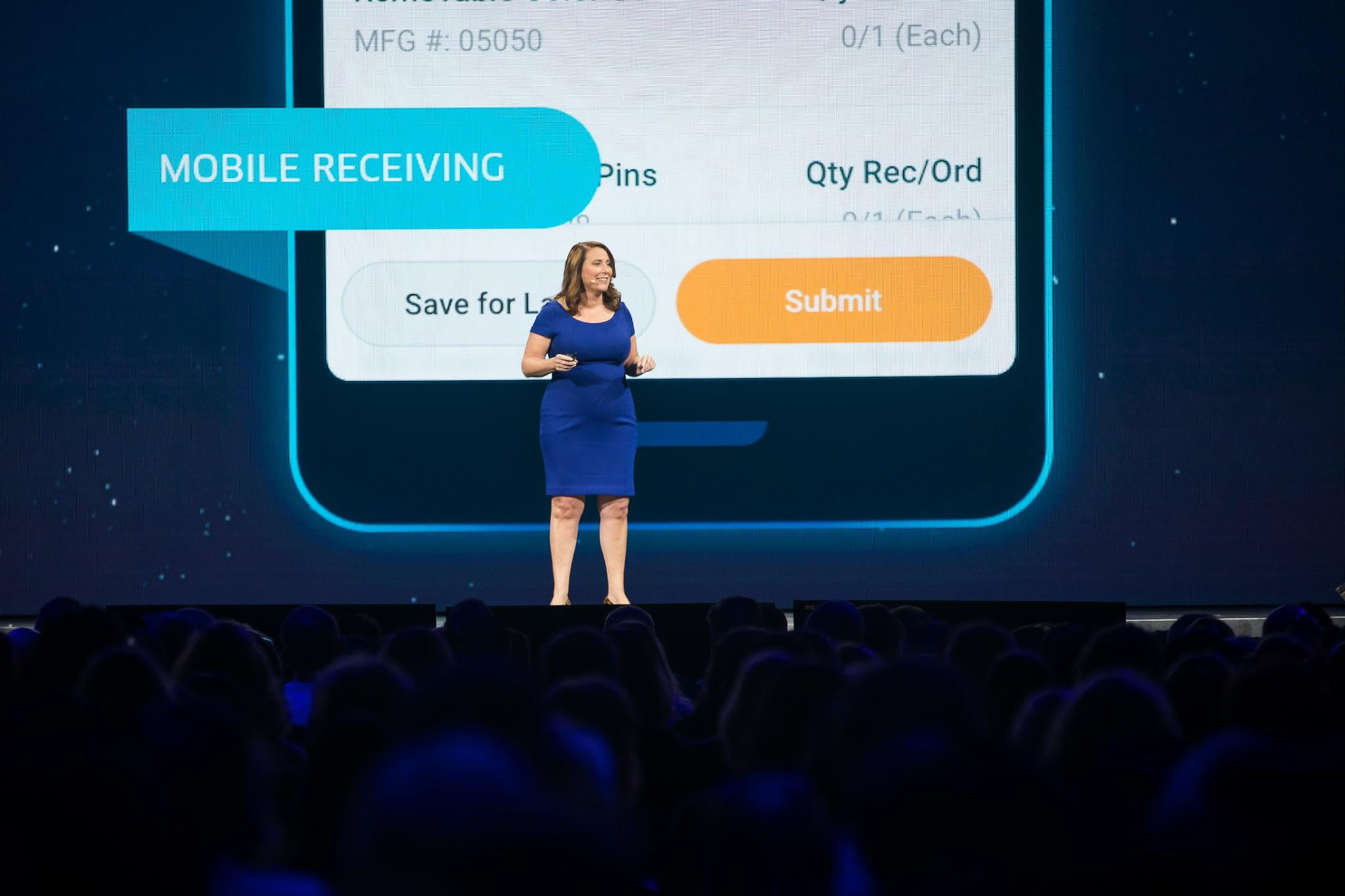Workday staff represent product features at a conference