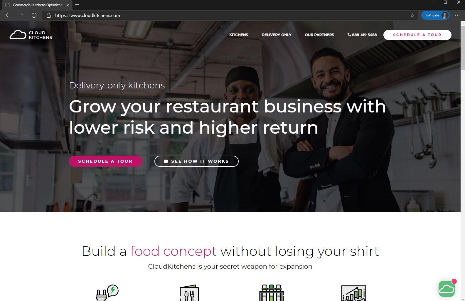 CloudKitchens homepage