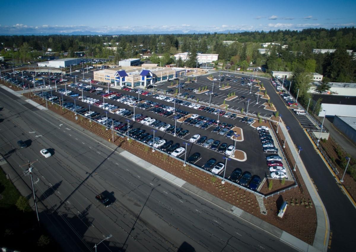 the birdeye view of Carmax dealership development