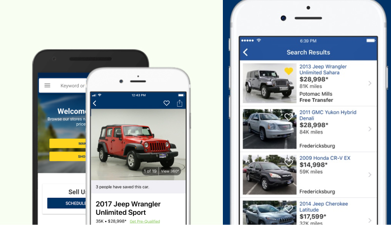 Carmax mobile apps
