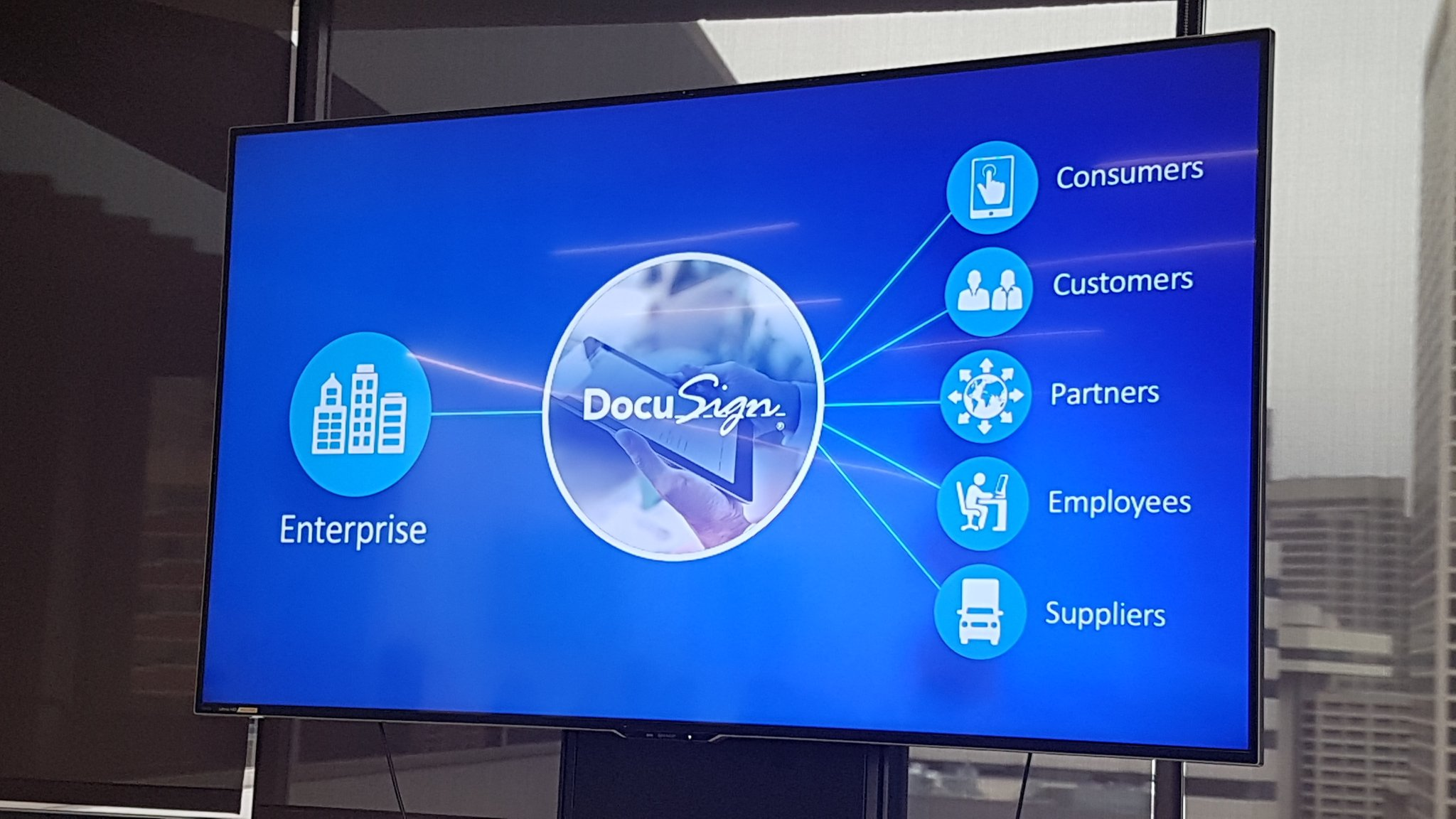 DocuSign product in a presentation about Enterprise sector