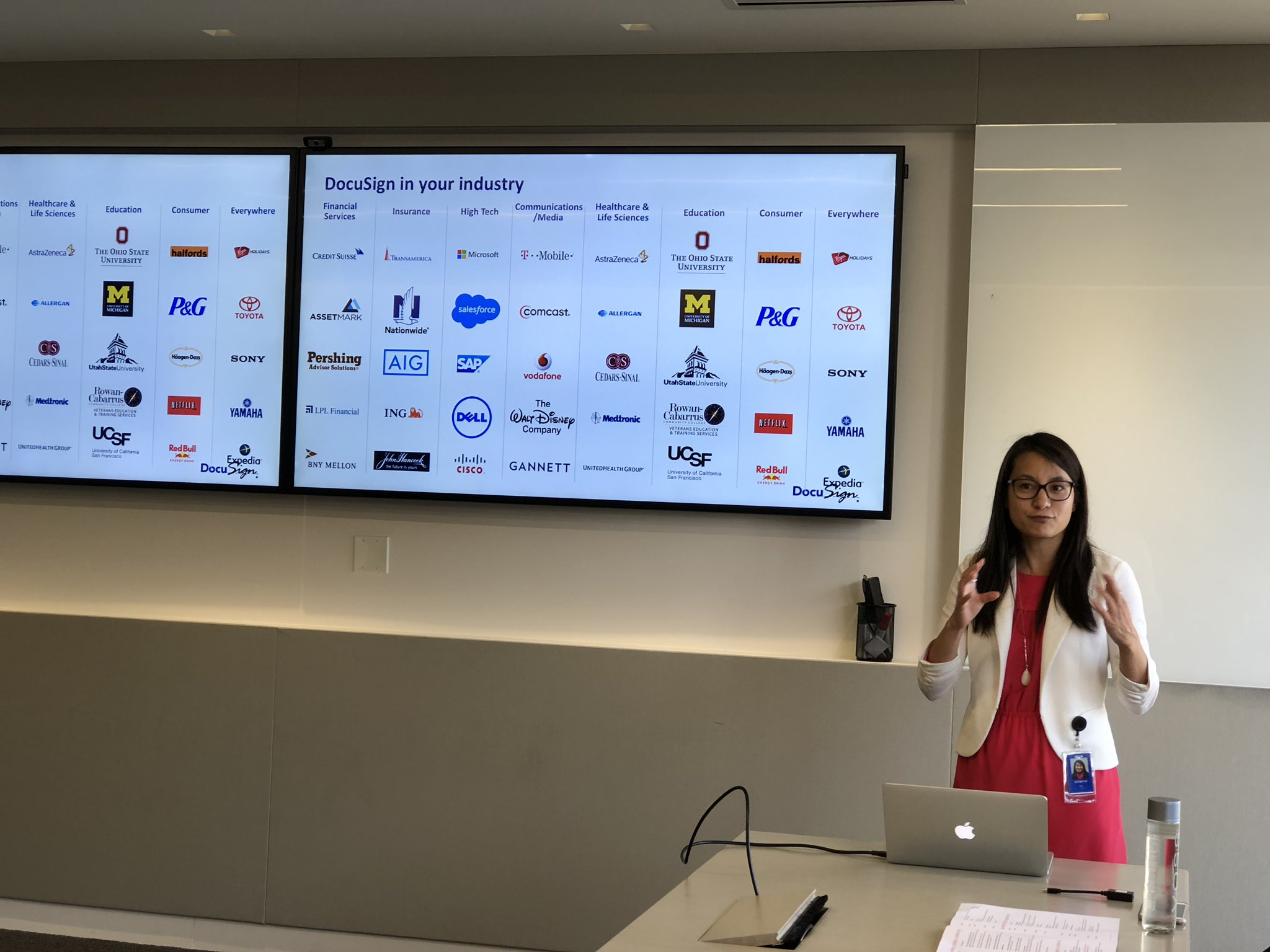 DocuSign staff represent the coverage of industry with the product