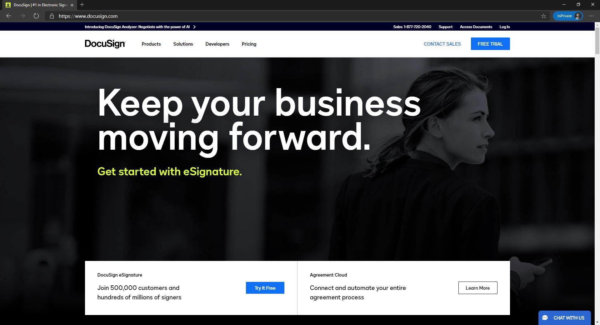DocuSign homepage website