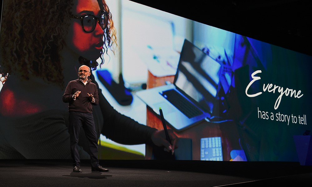 Adobe CEO talks at creative conference