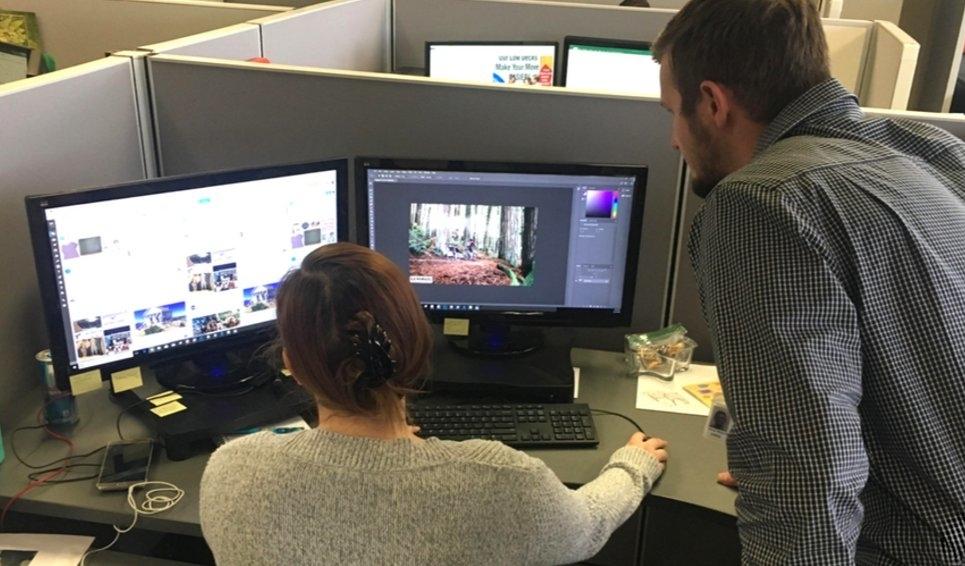 U-Haul staff work on design