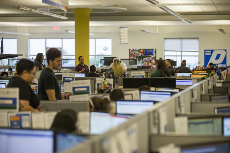 corporate staff in Progressive headquarters