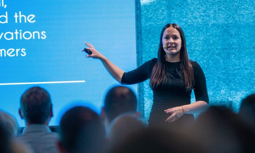 Staff from VF Corp speak at a conference