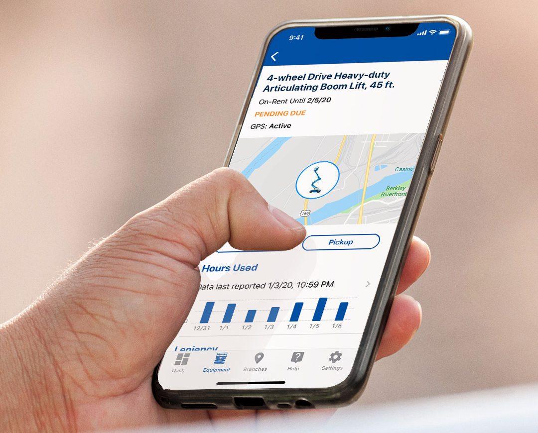 United Rentals app