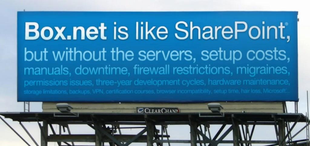 Box billboard advertising