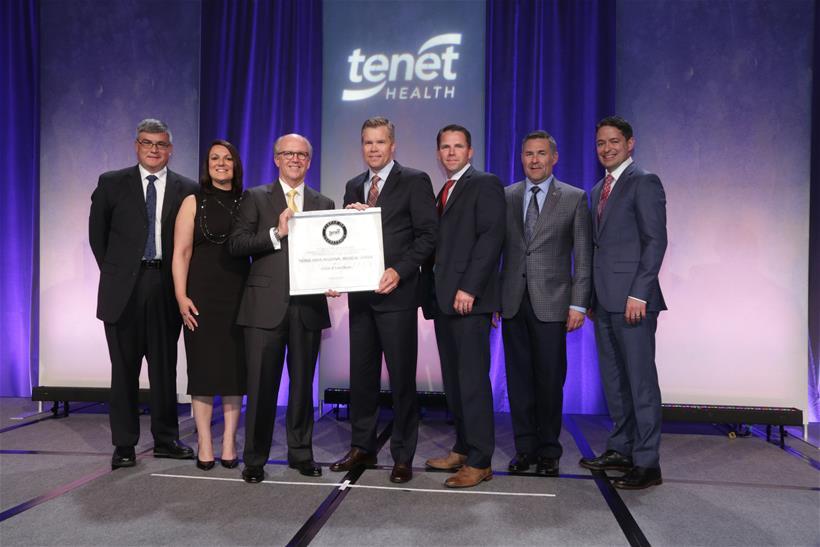 Tenet health staff with award