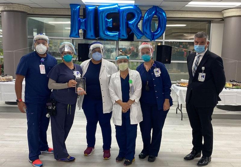 Tenet staff in a hospital