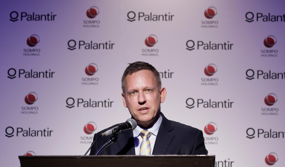 Palantir founder Peter Thiel in a conference