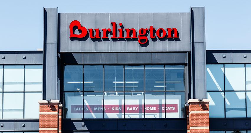 front door of Burlington store