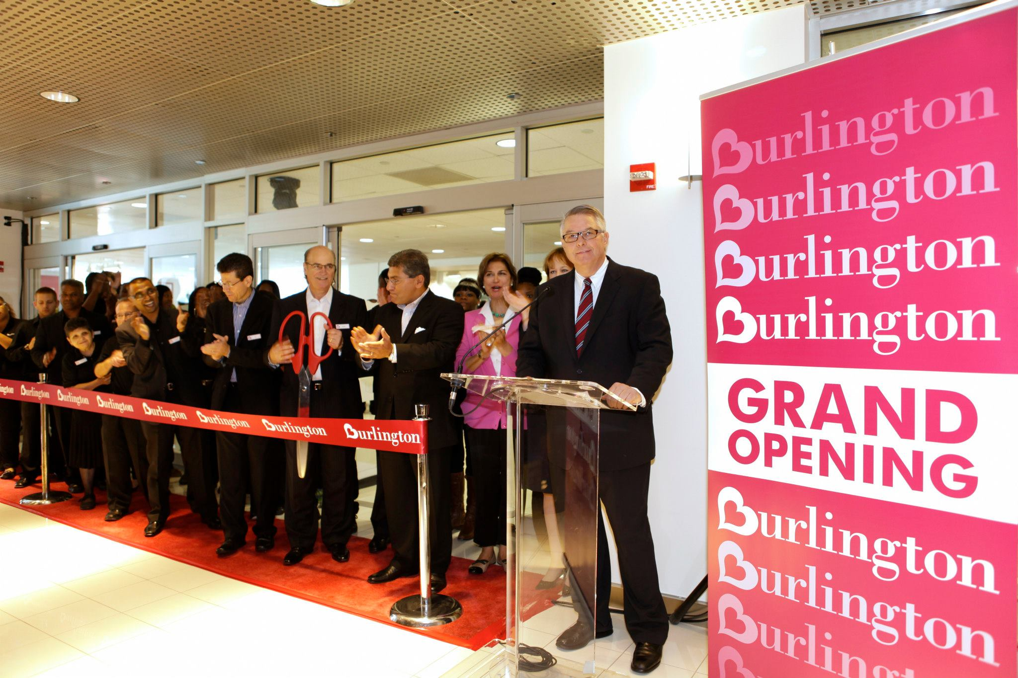 Grand opening from Burlington store