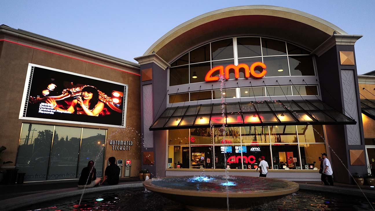 Frontage of AMC theater in Los Angeles