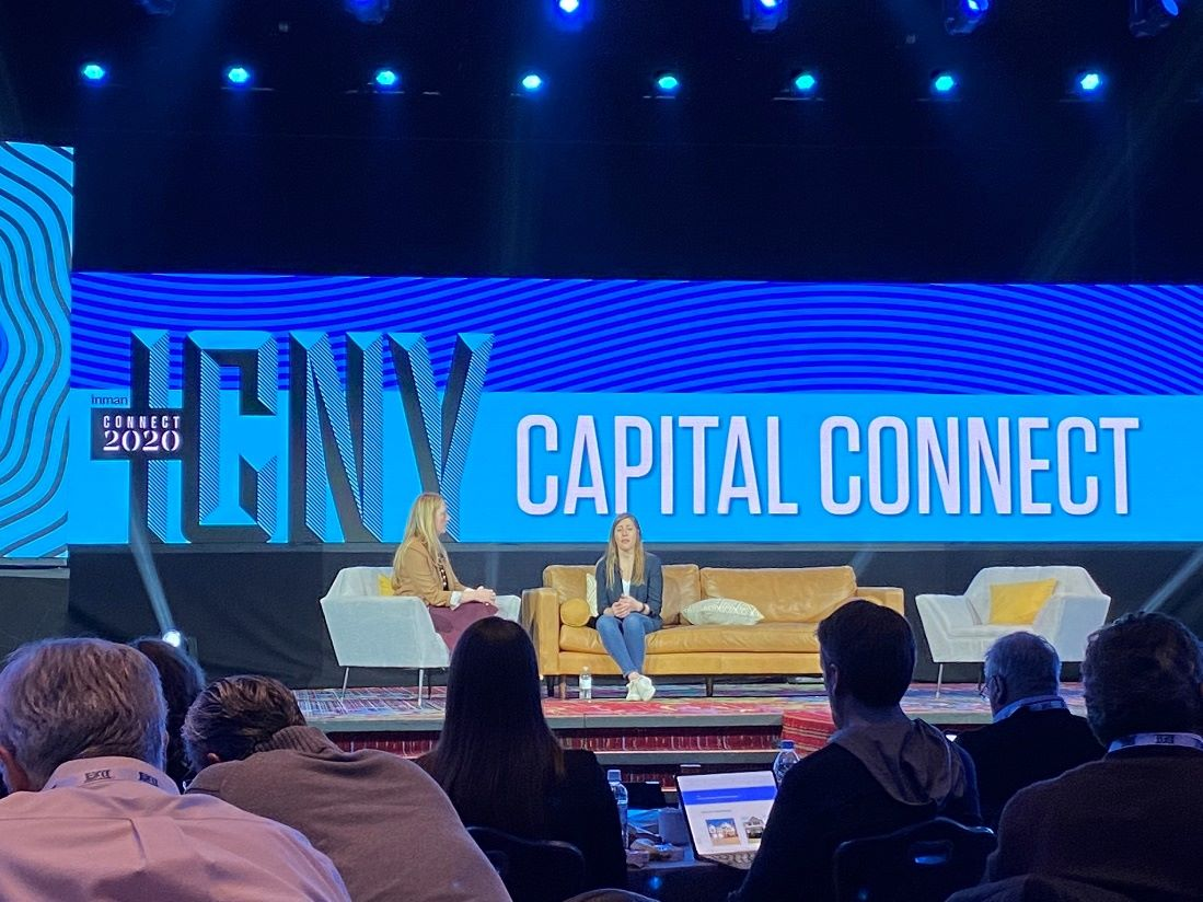 Adena Hefet in an interview on stage at Capital Connect Conference