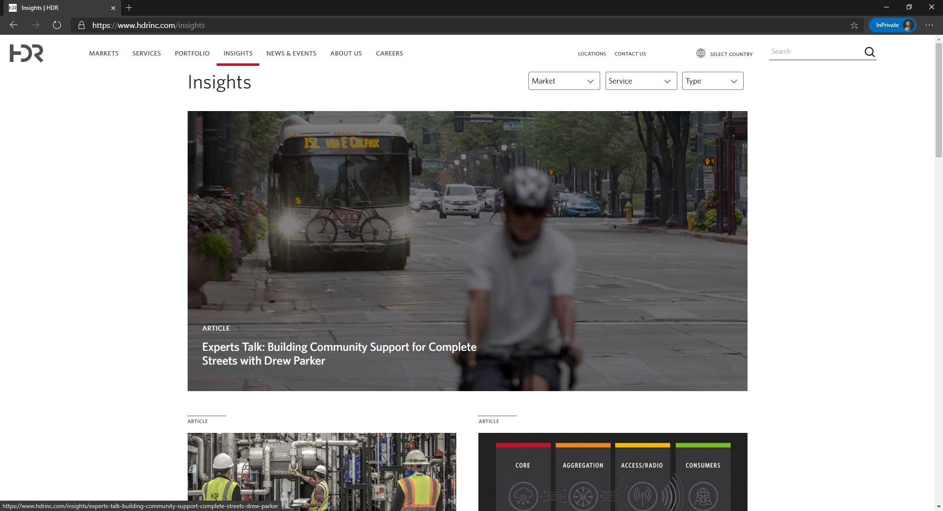 HDR homepage website