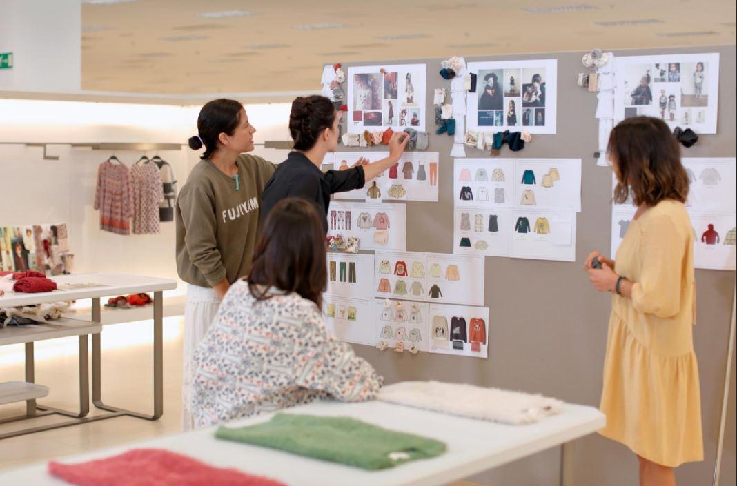 Zara designer team in collaboration on concept