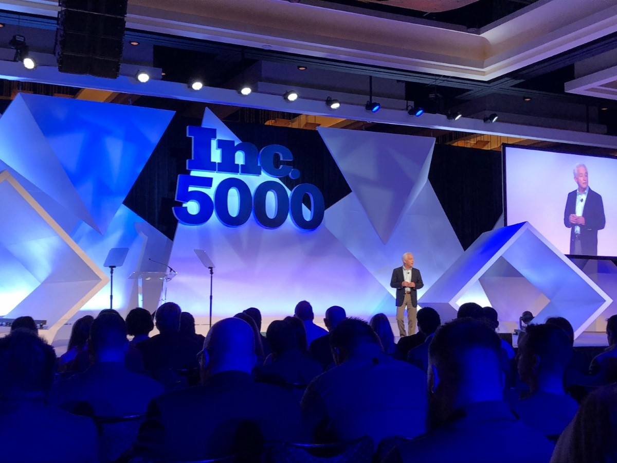 guest speaker at Inc 5000 conference